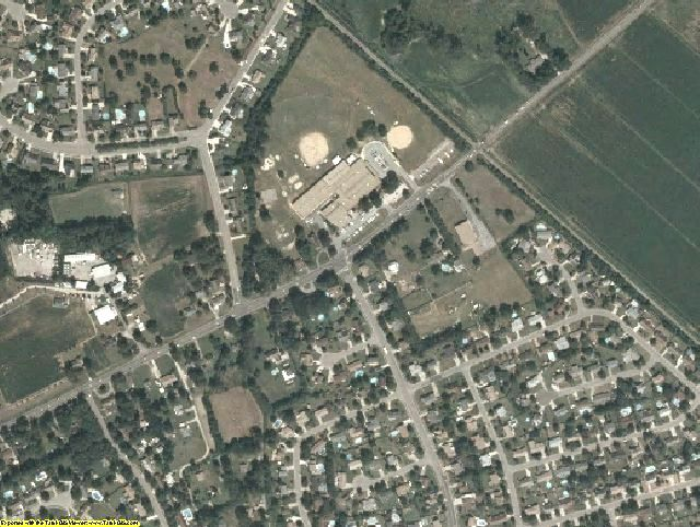 Chesapeake County, VA aerial photography detail