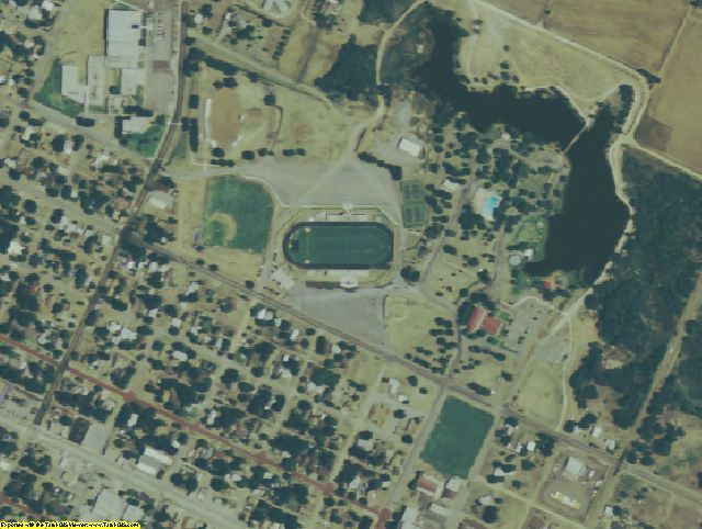Childress County, TX aerial photography detail
