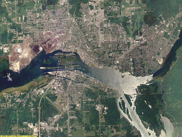 Chippewa County, Michigan aerial photography