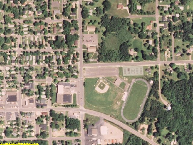 Chippewa County, WI aerial photography detail