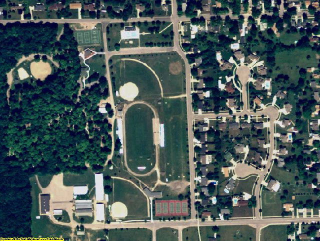 Clinton County, MI aerial photography detail