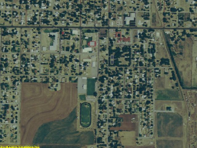 Collingsworth County, TX aerial photography detail
