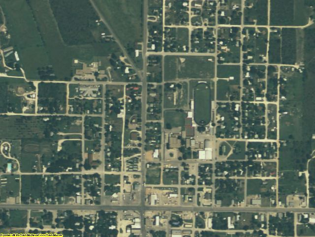 Concho County, TX aerial photography detail