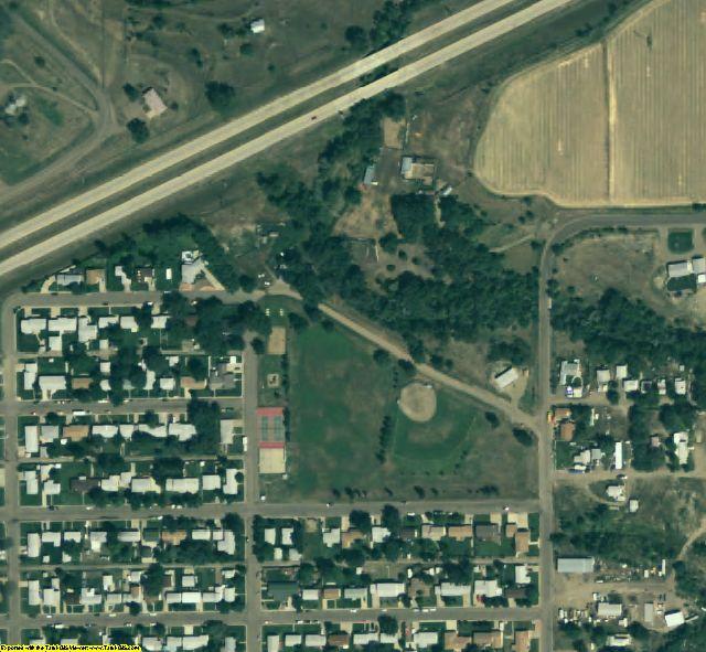 Dawson County, MT aerial photography detail