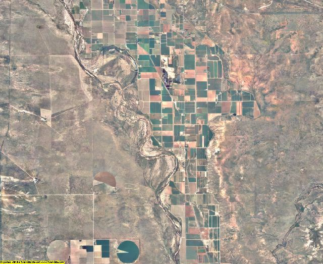 De Baca County, New Mexico aerial photography