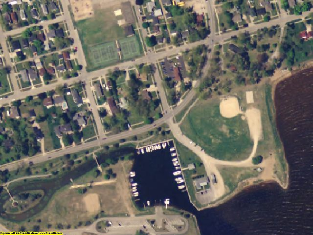 Delta County, MI aerial photography detail