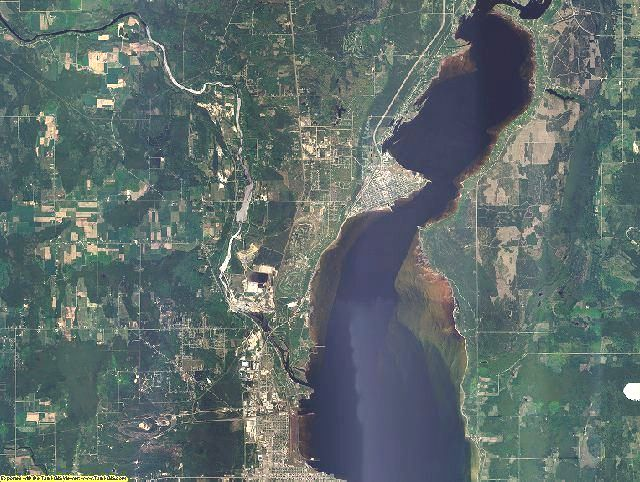 Delta County, Michigan aerial photography