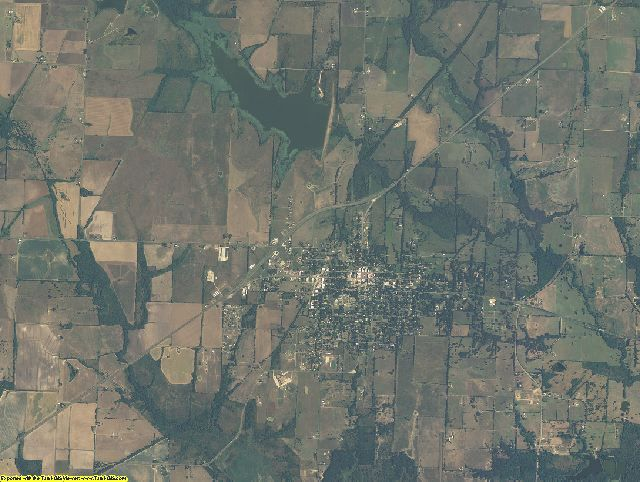 Delta County, Texas aerial photography