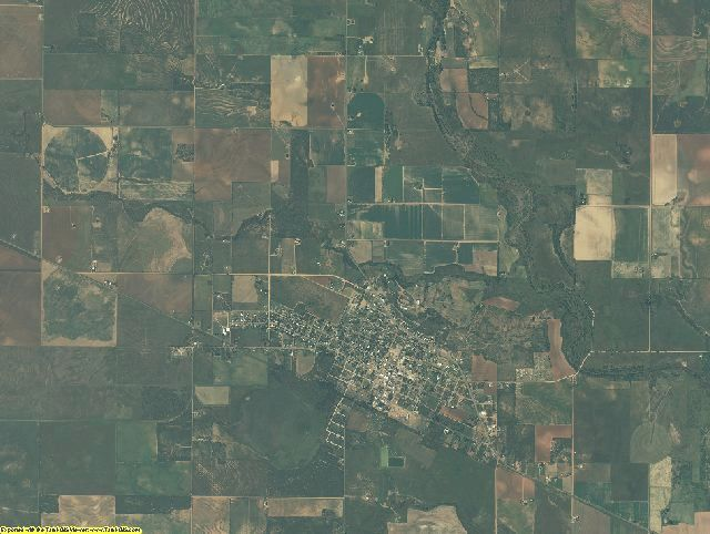 Dickens County, Texas aerial photography