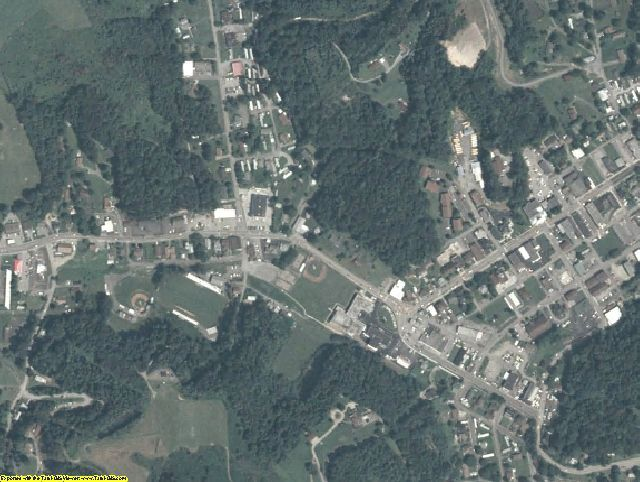 Dickenson County, VA aerial photography detail