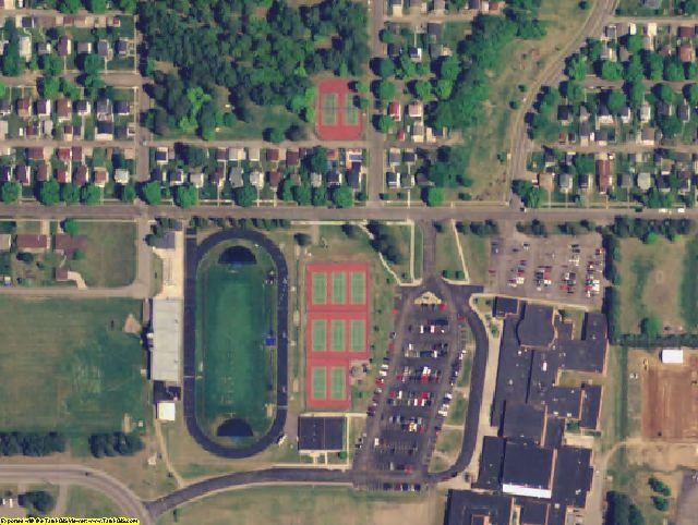 Dickinson County, MI aerial photography detail
