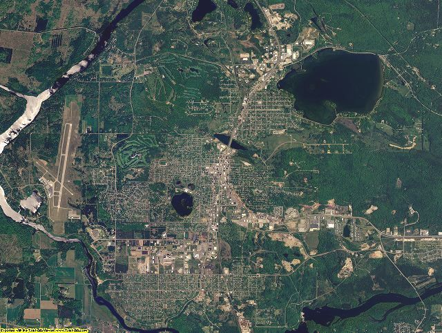 Dickinson County, Michigan aerial photography