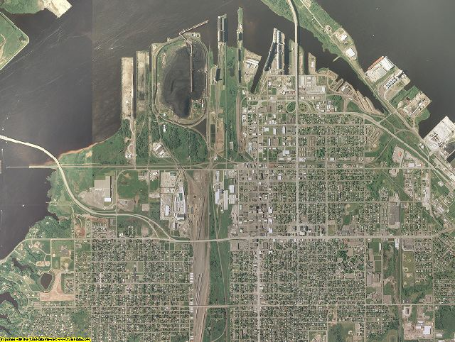 Douglas County, Wisconsin aerial photography