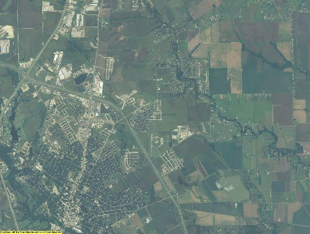 Ellis County, Texas aerial photography
