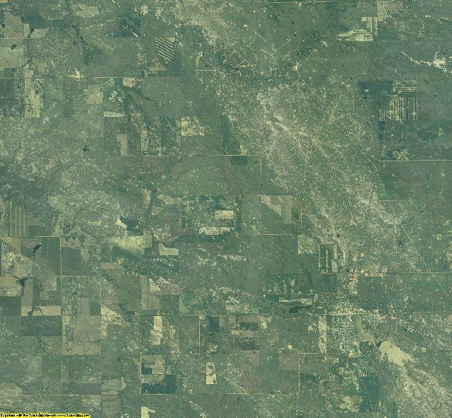 Fallon County, Montana aerial photography