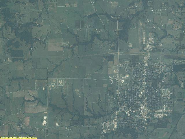 Fannin County, Texas aerial photography