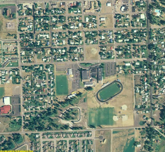 Flathead County, MT aerial photography detail