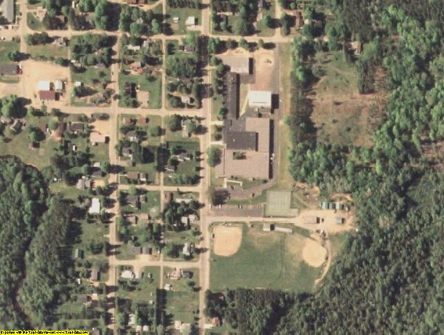 Forest County, WI aerial photography detail