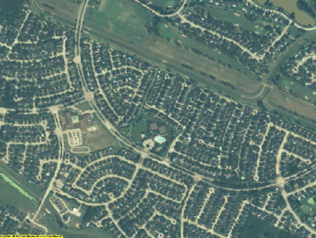 Fort Bend County, TX aerial photography detail