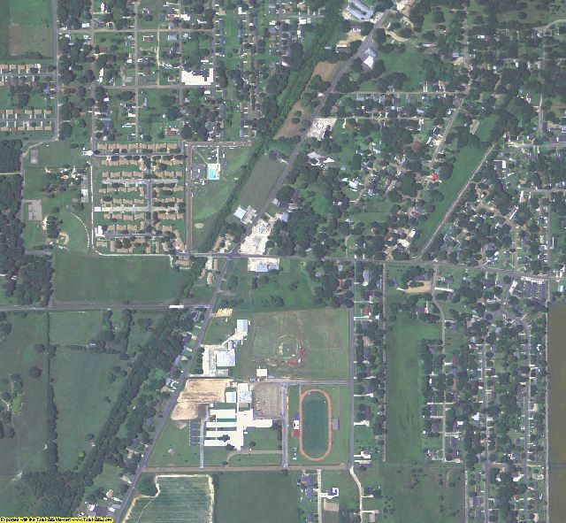 Franklin County, LA aerial photography detail