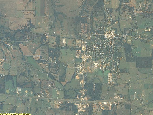 Franklin County, Texas aerial photography