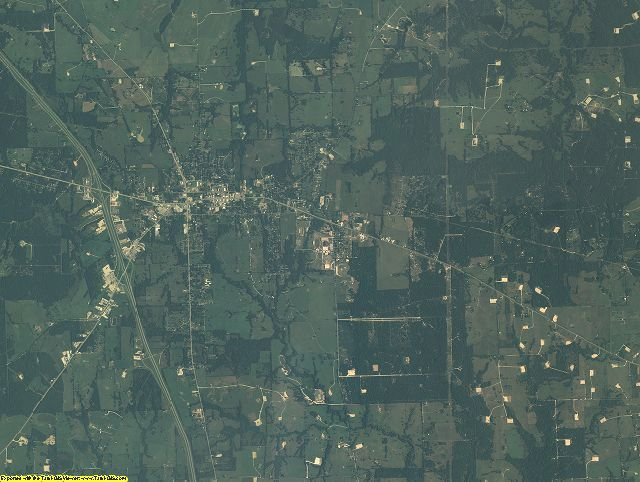 Freestone County, Texas aerial photography