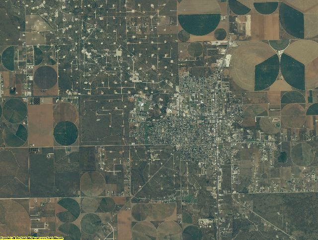 Gaines County, Texas aerial photography