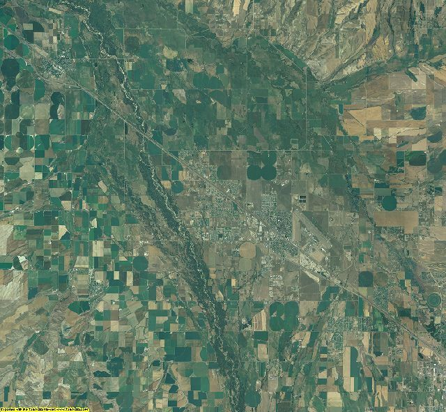 Gallatin County, Montana aerial photography