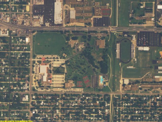 Galveston County, TX aerial photography detail