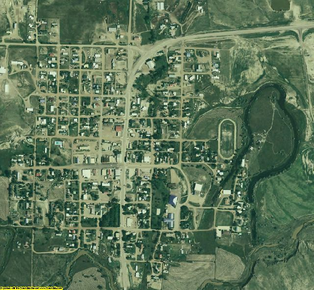 Garfield County, MT aerial photography detail