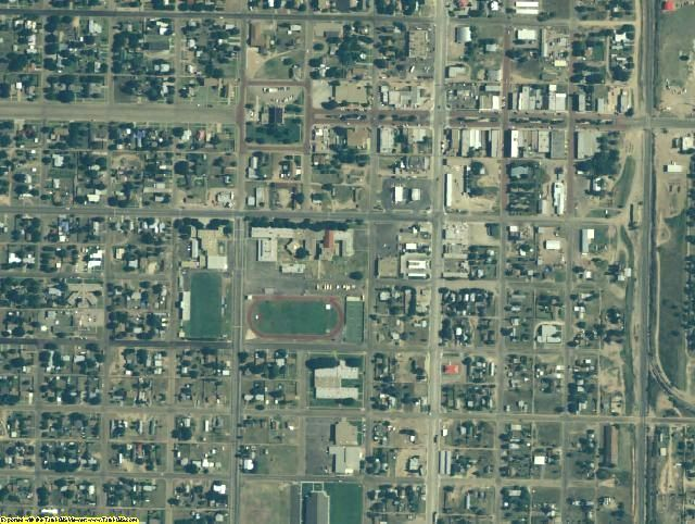Garza County, TX aerial photography detail