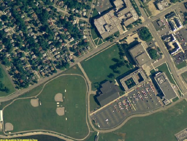 Genesee County, MI aerial photography detail