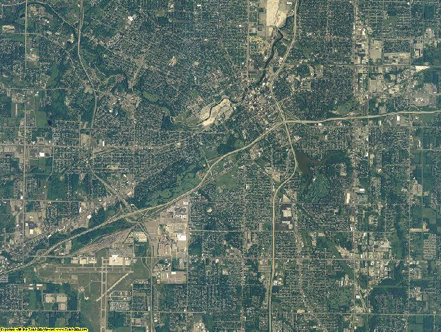 Genesee County, Michigan aerial photography