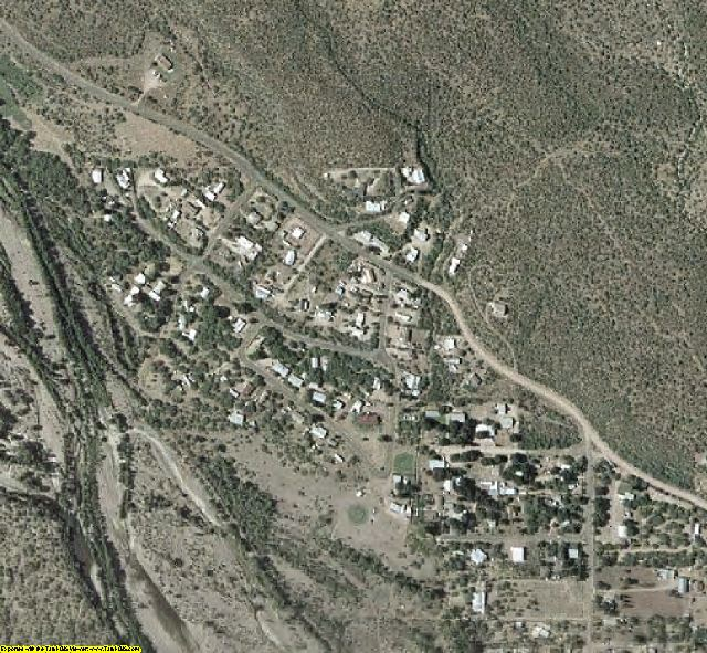 Gila County, AZ aerial photography detail