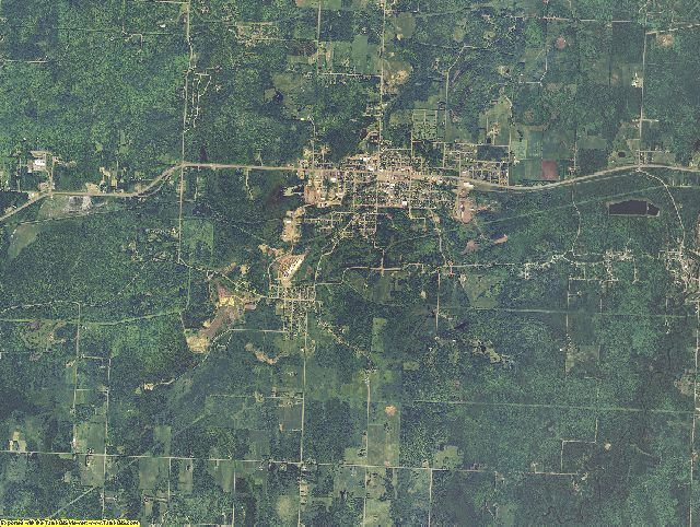 Gogebic County, Michigan aerial photography