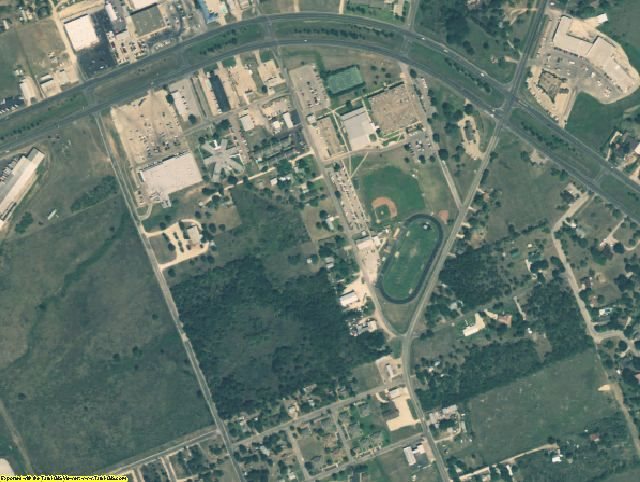 Gonzales County, TX aerial photography detail