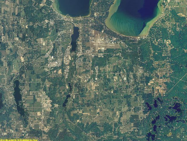 Grand Traverse County, Michigan aerial photography