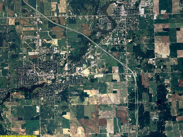 Gratiot County, Michigan aerial photography