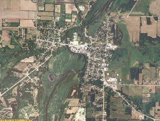 Green Lake County, Wisconsin aerial photography