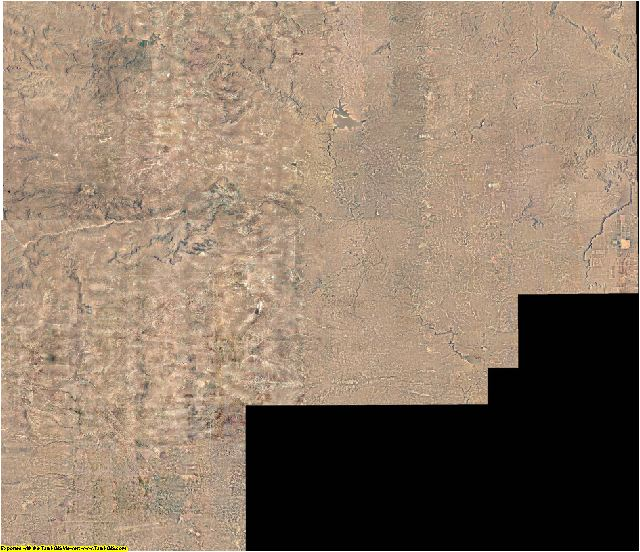 Guadalupe County, New Mexico aerial photography