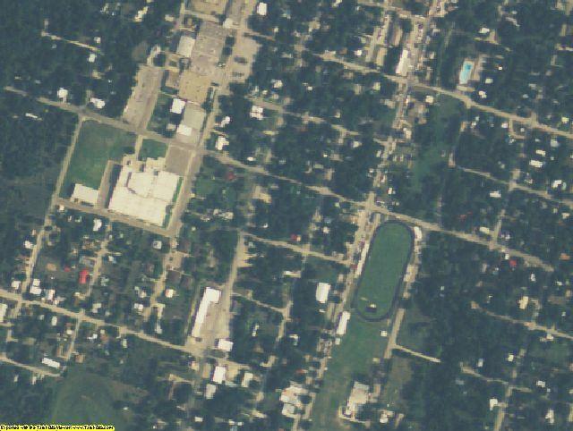 Hamilton County, TX aerial photography detail