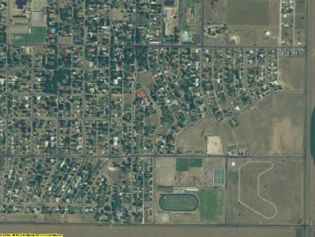 Hansford County, TX aerial photography detail
