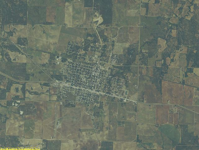 Hardeman County, Texas aerial photography