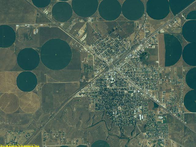 Hartley County, Texas aerial photography