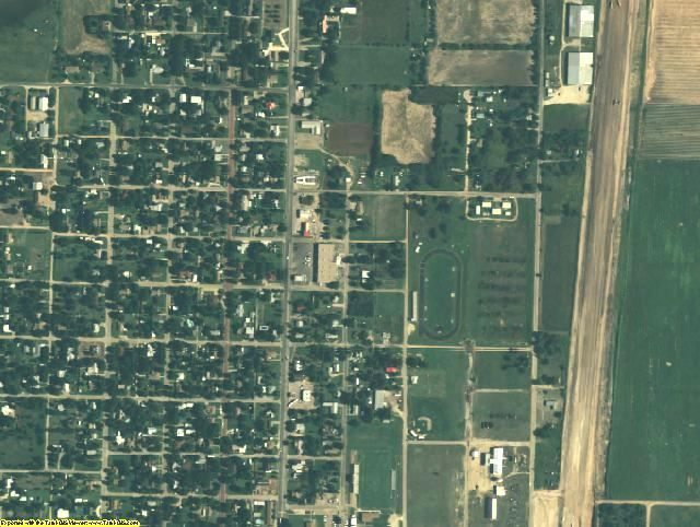 Haskell County, TX aerial photography detail