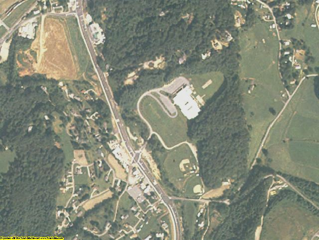 Haywood County, NC aerial photography detail