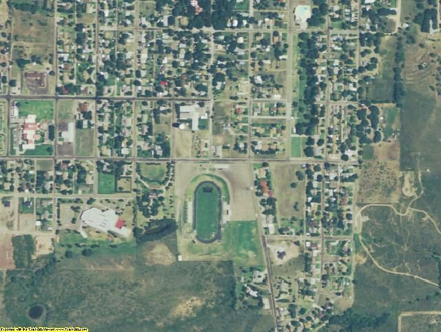 Hemphill County, TX aerial photography detail