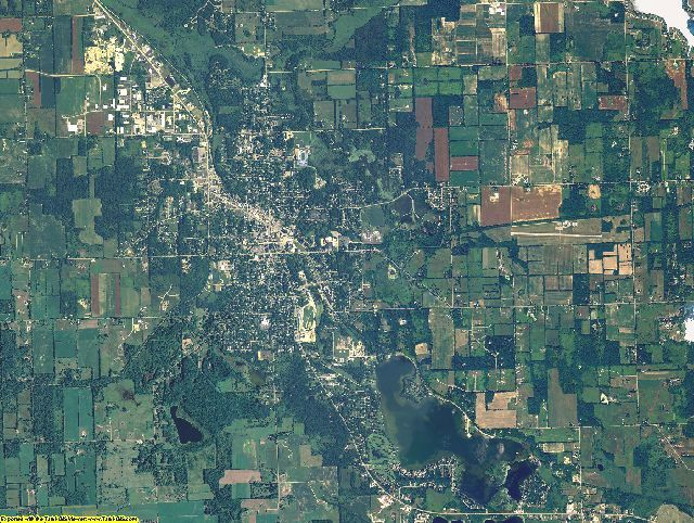 Hillsdale County, Michigan aerial photography