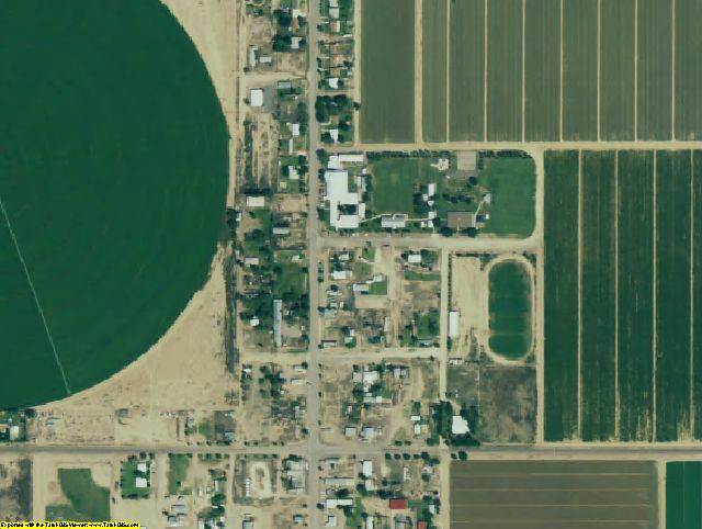 Hudspeth County, TX aerial photography detail