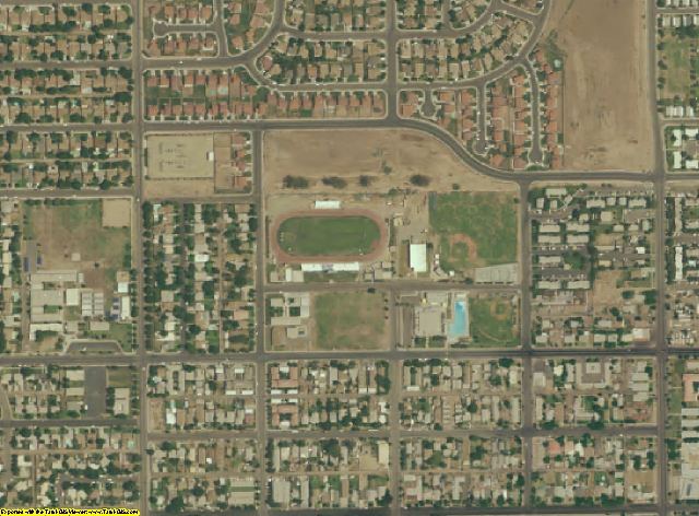 Imperial County, CA aerial photography detail